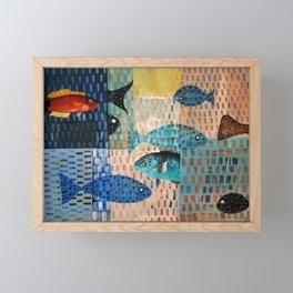 Black and Parrot Framed Mini Art Print