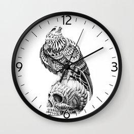 Red-Tail Skull Wall Clock