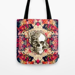 You are not here Day of the Dead Rose Skull. Tote Bag
