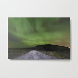 Road to the Northern Lights Metal Print