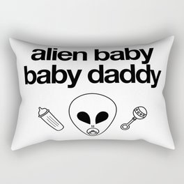 Alien Baby Baby Daddy Rectangular Pillow