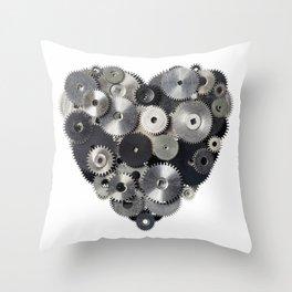 Mechanical heart Throw Pillow