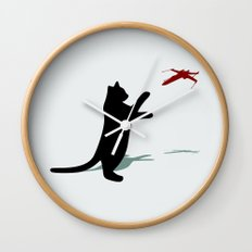 Cat and X-Wing Wall Clock