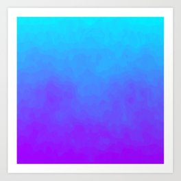 Blue and Purple Ombre - Swirly Art Print