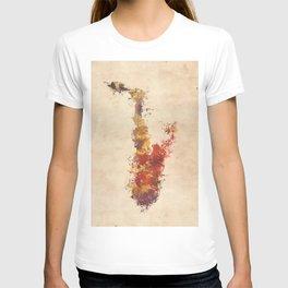 saxophone art T-shirt