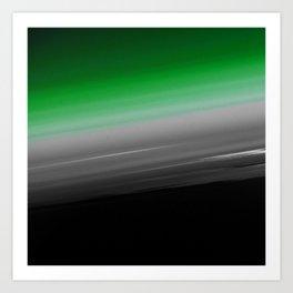Green Gray Black Ombre Art Print