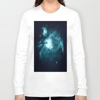 nebula Long Sleeve T-shirts featuring Orion nebula : Teal Galaxy by 2sweet4words Designs