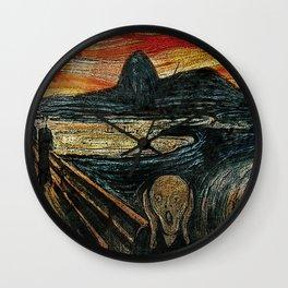 The Scream in Rio Wall Clock