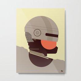 Robo Cop Metal Print