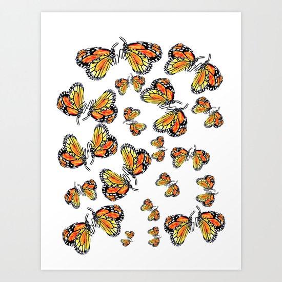 Monarch Butterflies Art Print