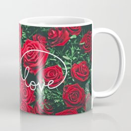 Red Roses Photography & Infinity Love Sign Coffee Mug