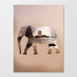 Zen elephant Canvas Print