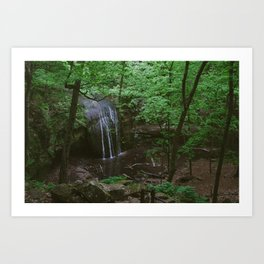 Waterfall at Governor Dodge State Park Art Print