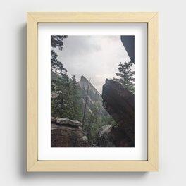 Flat Iron 1 During Rainstorm Recessed Framed Print