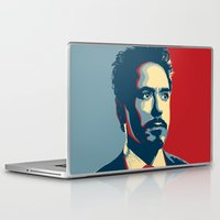 tony stark Laptop & iPad Skins featuring Tony Stark by Cadies Graphic