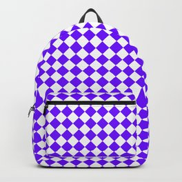 White and Indigo Violet Diamonds Backpack