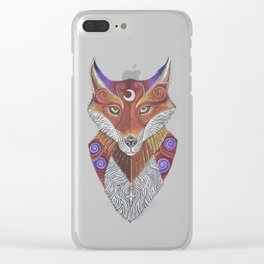 Fox Totem Clear iPhone Case