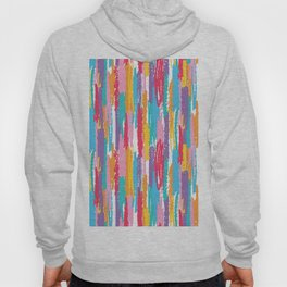 Colorful crayons brushstrokes pattern Hoody