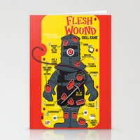in the flesh Stationery Cards featuring Flesh Wound by Captain_RibMan