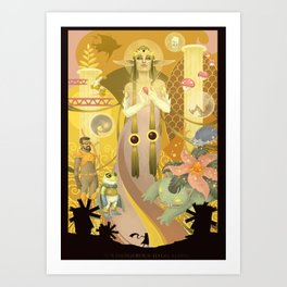 Dangerous to go alone Art Print