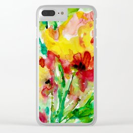 Blooming Joy No.1 by Kathy Morton Stanion Clear iPhone Case