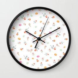ROSES & MACARONS Wall Clock