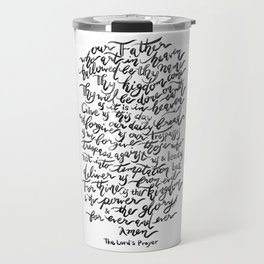 The Lord's Prayer - BW Travel Mug