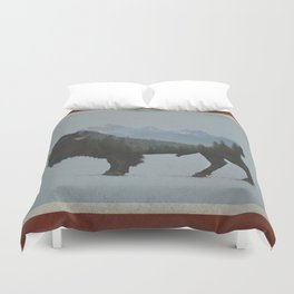 Wyoming Bison Flag Duvet Cover