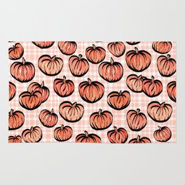 Pumpkin Patch Plaid Rug