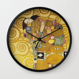The Embrace - Gustav Klimt Wall Clock