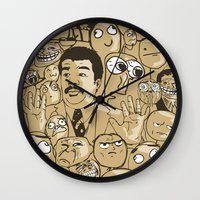 meme Wall Clocks featuring Meme Color by neicosta