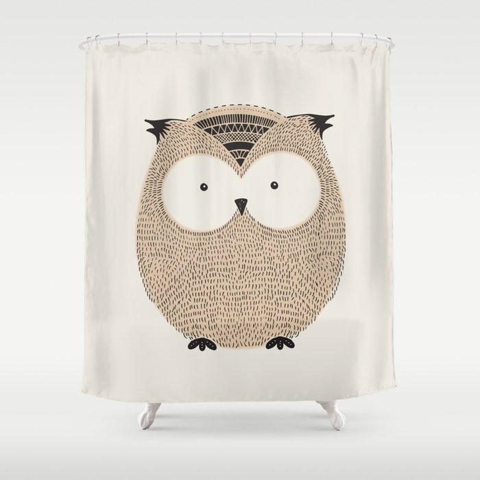 Owl Cute Woodland Animals Shower Curtain By Meganmorrisart