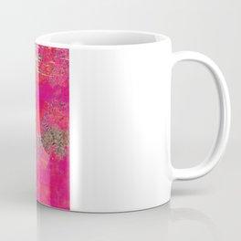 Hot Pink & Orange Abstract Art Collage Coffee Mug
