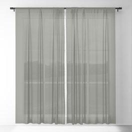SLATE GREEN II Sheer Curtain