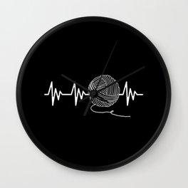Knitting Heartbeat Wall Clock