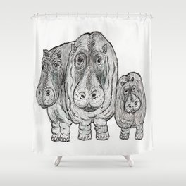 Hippos Shower Curtain