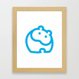 Blue hippo Framed Art Print