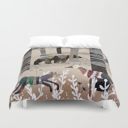 Forest in Sweater Duvet Cover