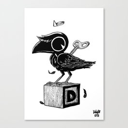 Ghost Crow Canvas Print