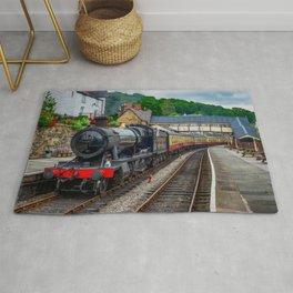 Steam Locomotive Wales Rug