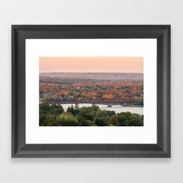 Sunset on the Saint John Framed Art Print
