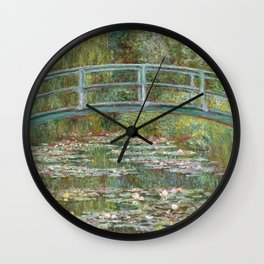 Monet, Water Lilies and Japanese Bridge, 1854 Wall Clock