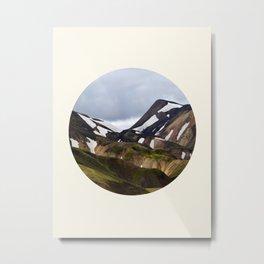 Melting Snow Mountain Metal Print
