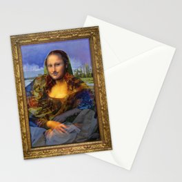 Mona (Kevin) Lisa : Satire + Contemporary Fine Art Stationery Cards