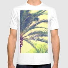 Summer feeling, palm trees in the south MEDIUM Mens Fitted Tee White