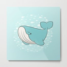 lou, the whale Metal Print