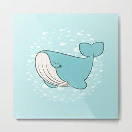 lou, the whale Metal Print