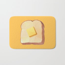 Toast with Butter polygon art Bath Mat