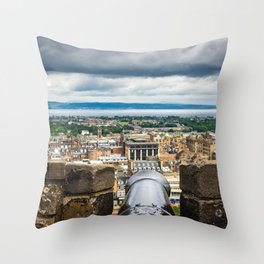 View from Edinburgh Castle, Scotland Throw Pillow