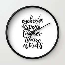 makeup quote,funny prints,bathroom decor,girly,girls room decor,quote prints,wall art,quotes Wall Clock